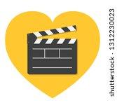 open movie clapper board... | Shutterstock .eps vector #1312230023
