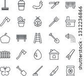 thin line icon set   job vector ... | Shutterstock .eps vector #1312236866