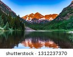 maroon bells during spring | Shutterstock . vector #1312237370
