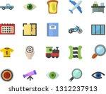 color flat icon set window flat ... | Shutterstock .eps vector #1312237913