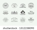 set of vintage camping outdoor... | Shutterstock .eps vector #1312238090
