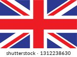 great britain  flag. simple... | Shutterstock .eps vector #1312238630
