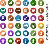 color back flat icon set   rake ... | Shutterstock .eps vector #1312240316