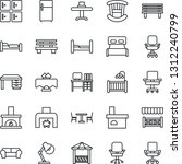 thin line icon set   cafe... | Shutterstock .eps vector #1312240799