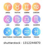 horoscope. zodiac signs  ... | Shutterstock .eps vector #1312244870