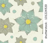 vintage seamless pattern with... | Shutterstock .eps vector #131224520