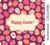 Cute Greeting Card For Easter.