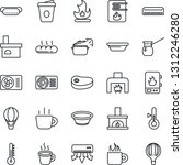 thin line icon set   coffee... | Shutterstock .eps vector #1312246280