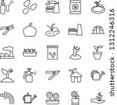 thin line icon set   factory... | Shutterstock .eps vector #1312246316