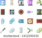 color flat icon set sockets... | Shutterstock .eps vector #1312250153