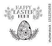 happy easter hunt label... | Shutterstock .eps vector #1312251053