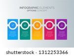 modern vector abstract step...   Shutterstock .eps vector #1312253366