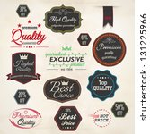 set of retro stickers and... | Shutterstock .eps vector #131225966