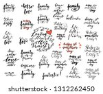 collection of hand lettering... | Shutterstock .eps vector #1312262450