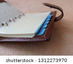 open organizer with blank pages ... | Shutterstock . vector #1312273970