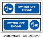 switch off engine symbol sign ... | Shutterstock .eps vector #1312280390