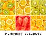 set of tasty healthy fruits... | Shutterstock . vector #131228063