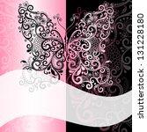 pink black frame with vintage ...
