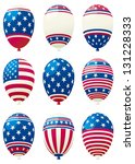 holiday balloons. set of... | Shutterstock . vector #131228333