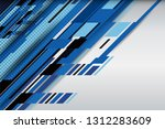 blue abstract background with... | Shutterstock .eps vector #1312283609