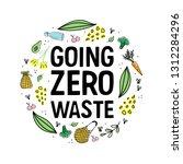 going zero waste. eco friendly... | Shutterstock .eps vector #1312284296