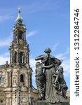 sculpture on the bruhl terrace  ... | Shutterstock . vector #1312284746