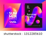 summer night party poster. club ... | Shutterstock .eps vector #1312285610