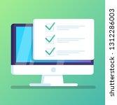 online form survey on computer... | Shutterstock .eps vector #1312286003