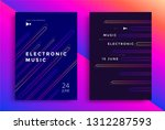 electronic music fest and... | Shutterstock .eps vector #1312287593