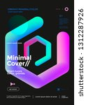 creative design poster with... | Shutterstock .eps vector #1312287926