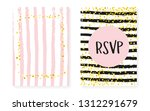bridal shower card with dots... | Shutterstock .eps vector #1312291679