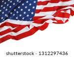 closeup of american flag on... | Shutterstock . vector #1312297436