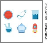 6 discovery icon. vector...   Shutterstock .eps vector #1312297910