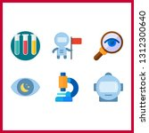 6 discovery icon. vector...   Shutterstock .eps vector #1312300640