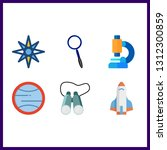 6 discovery icon. vector...   Shutterstock .eps vector #1312300859