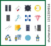 16 workshop icon. vector... | Shutterstock .eps vector #1312304816