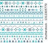 tribal art  ethnic seamless... | Shutterstock .eps vector #1312305770