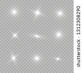glow light effect. star burst... | Shutterstock .eps vector #1312308290
