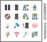 16 workshop icon. vector... | Shutterstock .eps vector #1312308899