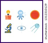 6 discovery icon. vector...   Shutterstock .eps vector #1312310129