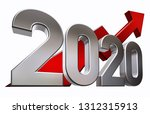 3d rendering of an 2020 symbol | Shutterstock . vector #1312315913