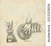 bowling   an sportman. an hand... | Shutterstock . vector #1312323026