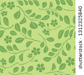 green seamless pattern with... | Shutterstock .eps vector #1312325840