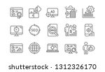 seo line icons. increase sales  ... | Shutterstock .eps vector #1312326170