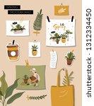 inspiration spring mood board.... | Shutterstock .eps vector #1312334450