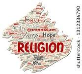 vector conceptual religion  god ...   Shutterstock .eps vector #1312336790