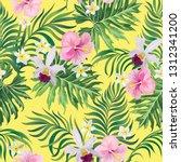 tropical vector seamless... | Shutterstock .eps vector #1312341200