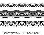 aztec vector ornament. set of... | Shutterstock .eps vector #1312341263