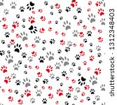 seamless pattern. wallpaper... | Shutterstock .eps vector #1312348403