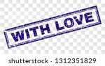with love stamp seal print with ...